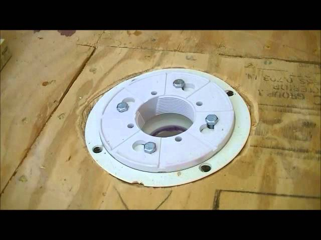How To Install Drain For Shower 2 Oatey Pvc Assembly Youtube