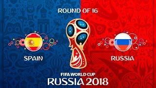 Испания - Россия  FIFA 18  Чемпионат мира по футболу 2018  1/8 финала