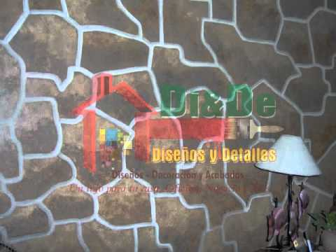 Decoracion de paredes con pintura youtube - Pinturas especiales para paredes ...