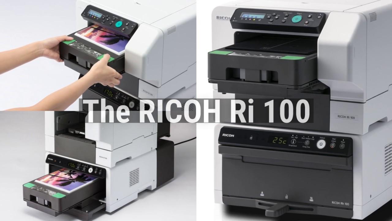 048126aff Ricoh Ri 100 Garment Printer - YouTube