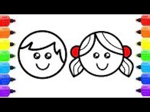 Livre De Coloriage Pour Enfants Comment Dessiner Une Fille Et Un Garcon Youtube