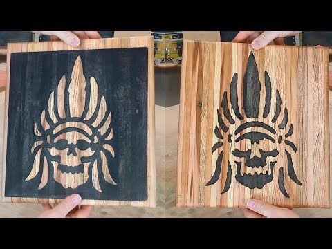 2017 Pallet Up-Cycle Challenge - Skull art - CNC or By-Hand???