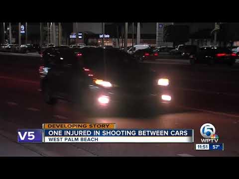 One Person Injured In Shooting Between Cars On Okeechobee Boulevard In West Palm Beach