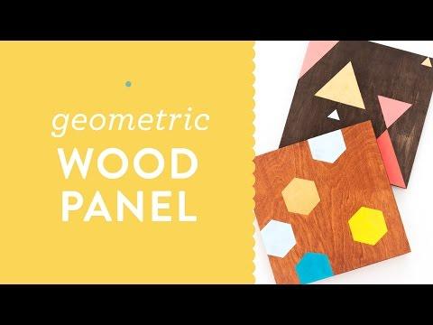 DIY Painted Geometric Wood Panel Wall Art Tutorial for Meet and Make