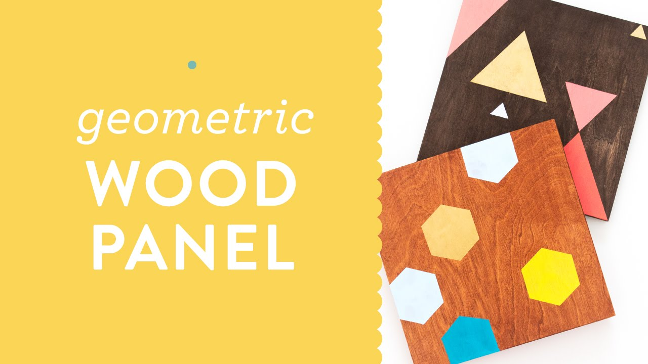 DIY Painted Geometric Wood Panel Wall Art Tutorial for Meet and Make ...