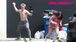 Jake Paul Films A Vlog With 3 Cute Girls At Team 10 House After Breaking Up With Alissa Violet