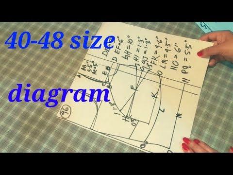 Double katori blouse measurement/diagram measurement(40-48) size