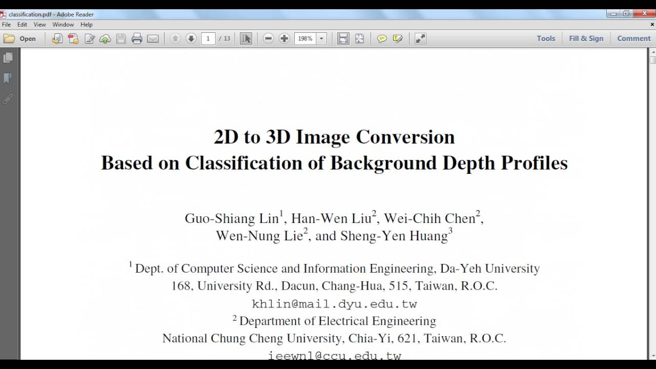 2D to 3D Image Conversion based on matlab code||ieee image processing  projects at bangalore,trichy