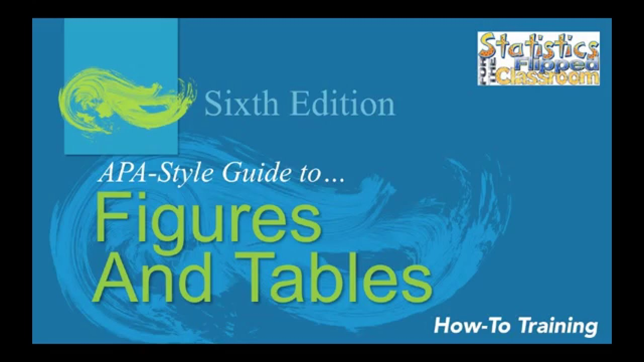 4 12 apa style for figures and tables youtube