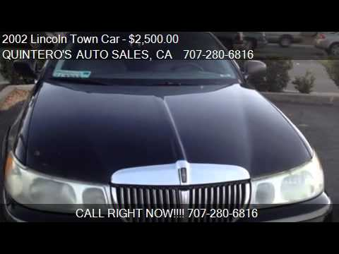 2002 Lincoln Town Car Cartier L For Sale In Vacaville Ca Youtube