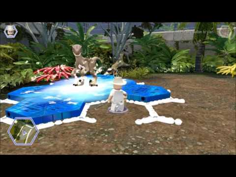 Lego Jurassic World. The Velociraptor finds a Gold Brick, Herbivore Territory, Jurassic Park.