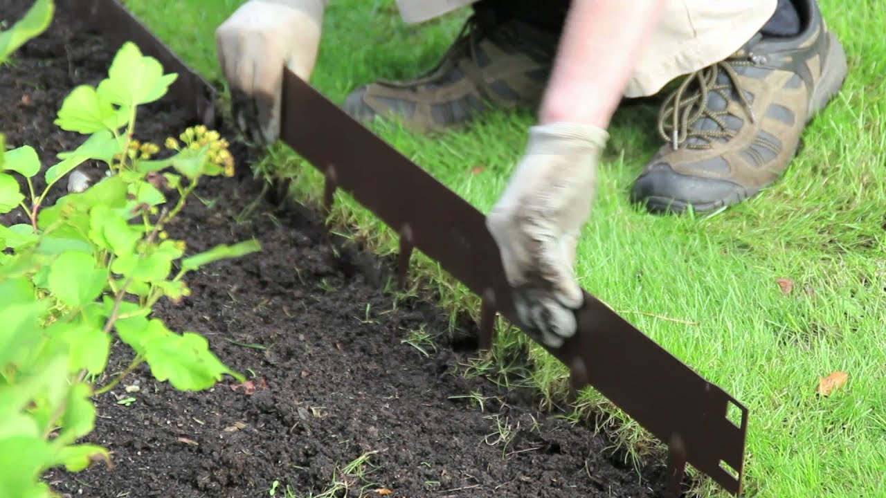 Everedge how to install everedge lawn landscape edging for Bordillos para jardin