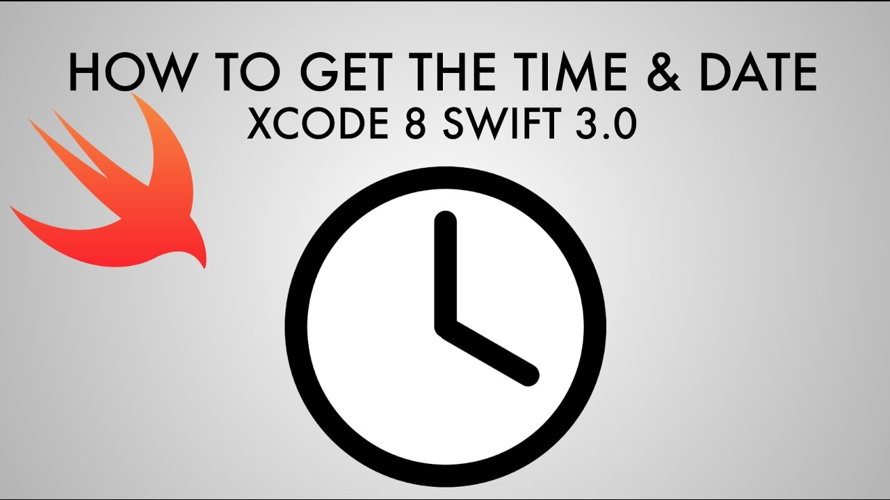 How to get the time and date in xcode 8 swift 30 youtube how to get the time and date in xcode 8 swift 30 biocorpaavc