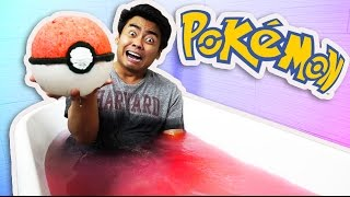 DIY How To Make GIANT POKEBALL BATHBOMB! (Detective Pikachu)