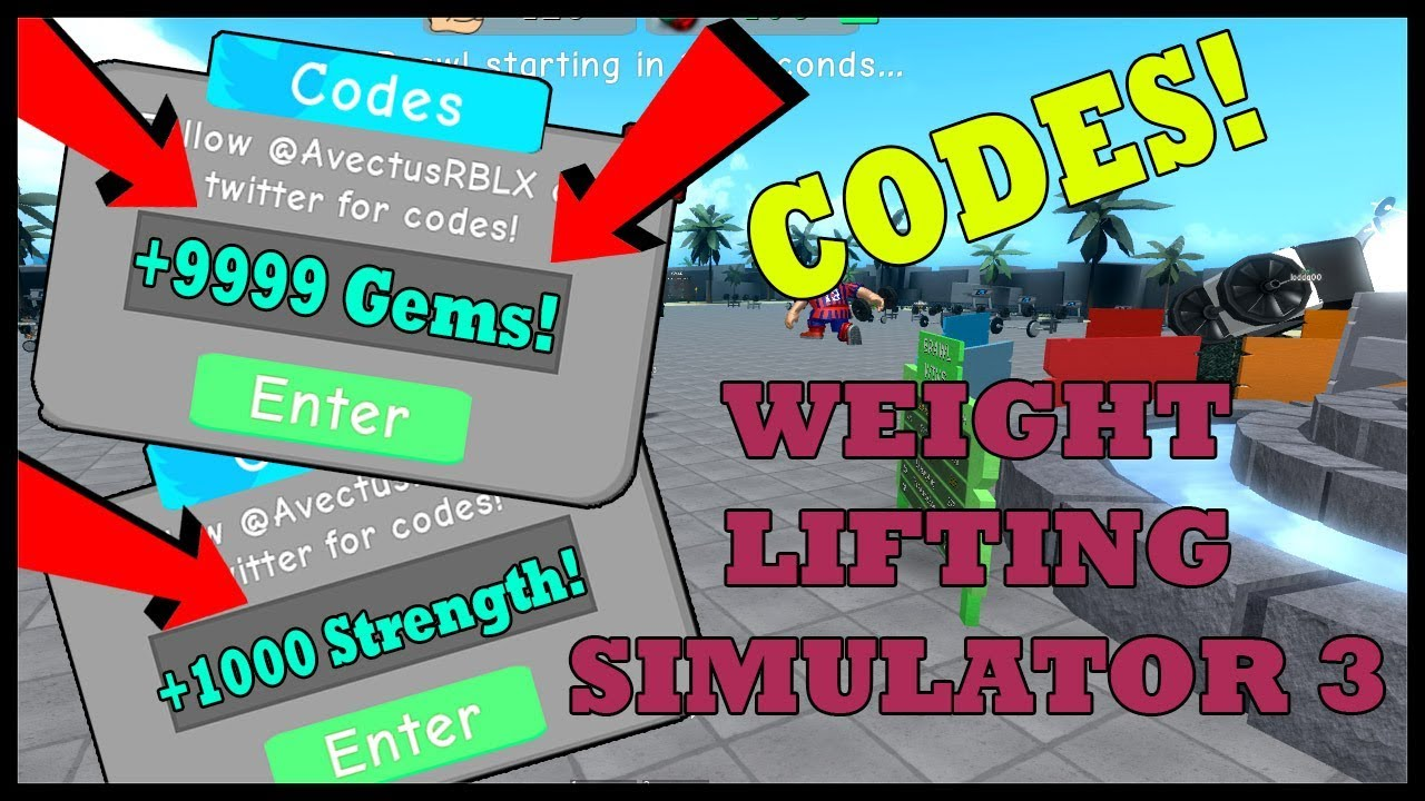 Codes On Roblox Weight Lifting Simulator 3 2019 Button For 2 New Codes In Weight Lifting Simulator 3 Roblox Youtube