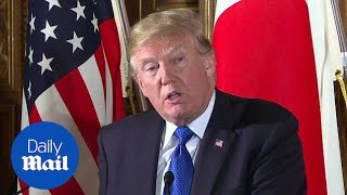 'There has never been such a close relationship: Trump in Japan - Daily Mail