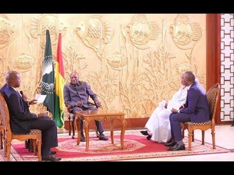 Alpha Condé face à la presse guineenne  le 9 octobre 2018