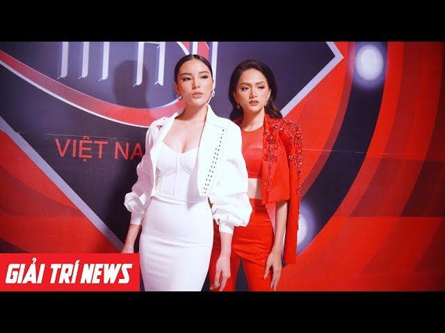 Hương Giang khoe body chuẩn, đọ dáng cùng Kỳ Duyên tại buổi ghi hình Siêu Mẫu Việt Nam