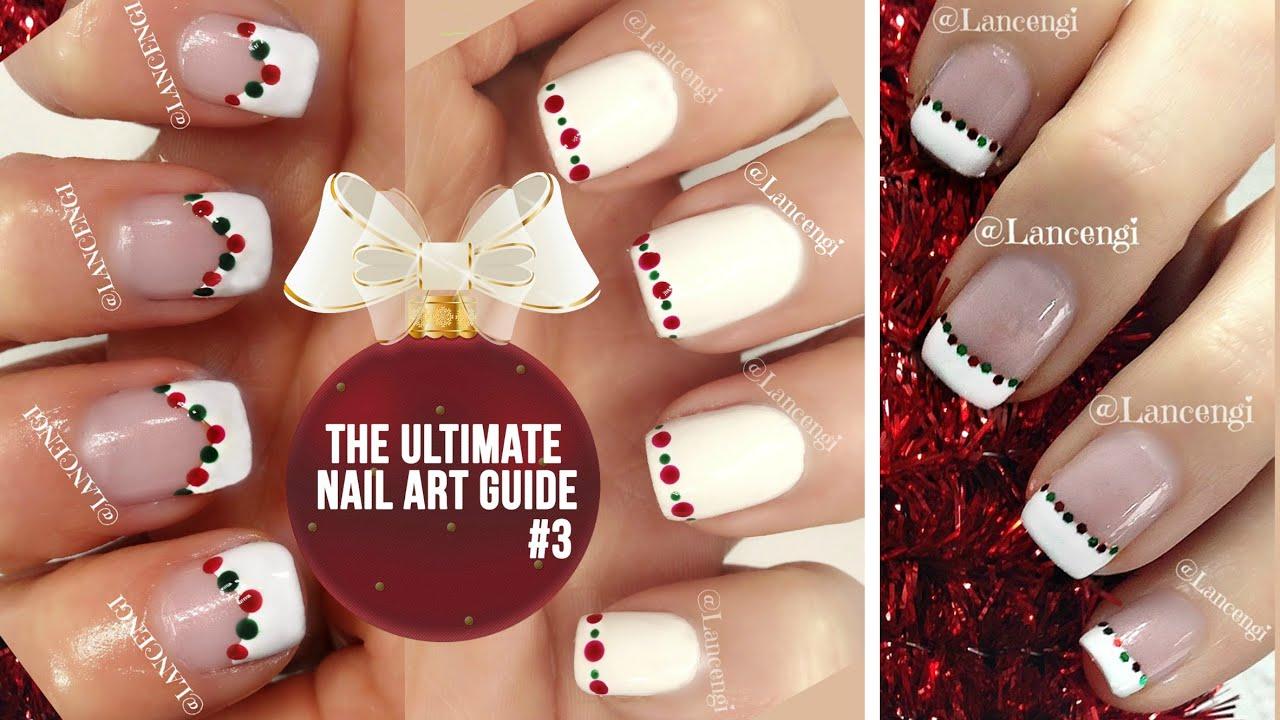diy cute & easy christmas nail