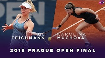 Jil Teichmann vs. Karolina Muchova   2019 Prague Open Final   WTA Highlights