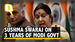 Sushma Swaraj Highlights Her Ministry's Achievements in 3 Years