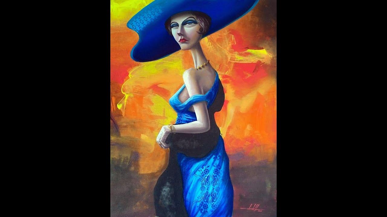 Pintura contempor nea em tinta acr lica sobre tela youtube - Pinturas acrilicas modernas ...