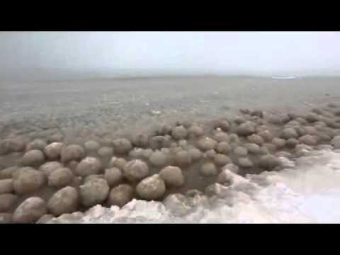 Lake Michigan has turned into a sea of ice balls in Glen Arbor