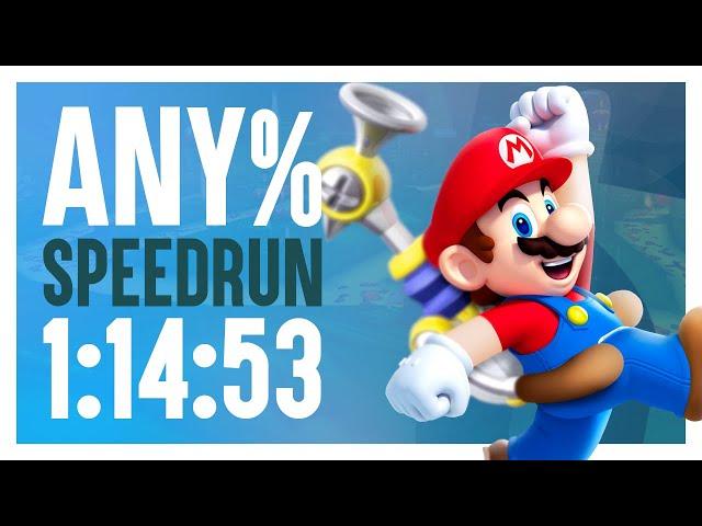 Super Mario Sunshine Any% Speedrun in 1:14:53!