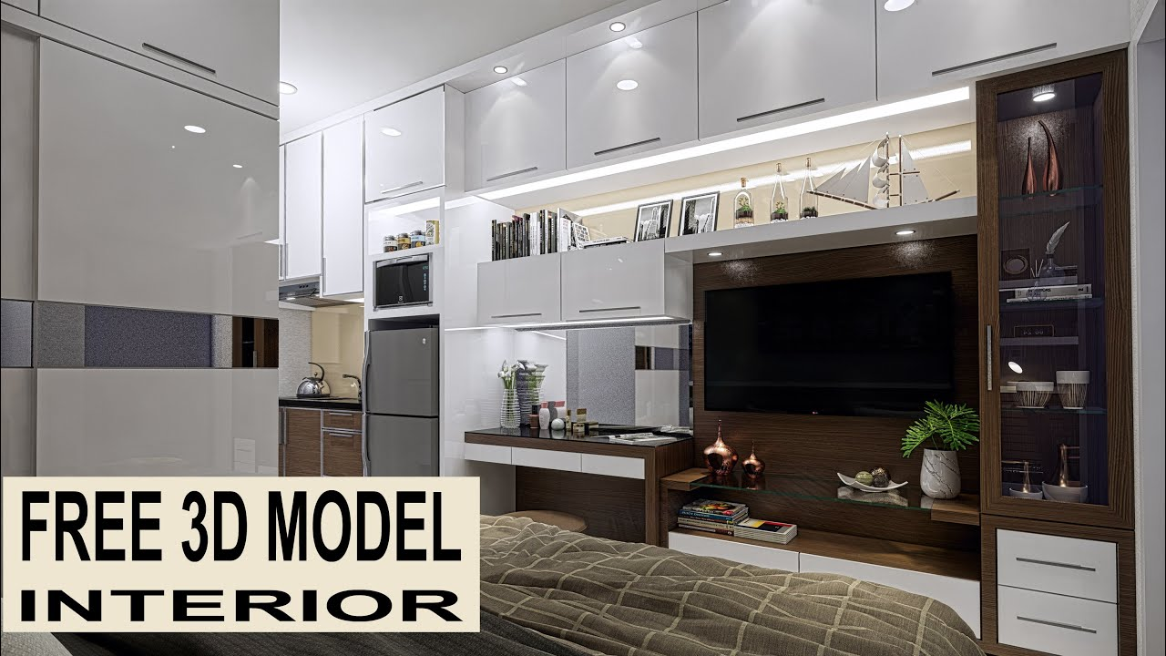 Interior Design Apartment Type Studio Video And Animation Free 3d Models Sketchup Youtube
