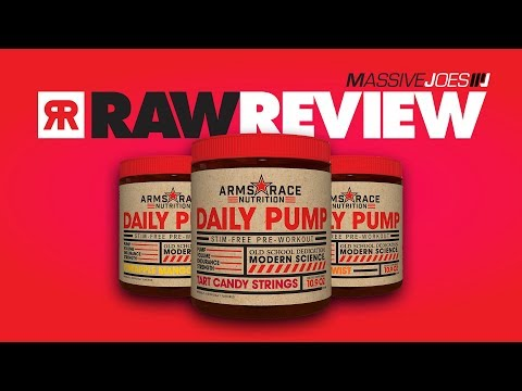 Arms Race Nutrition Daily Pump Pre-Workout Supplement Review | MassiveJoes Raw Review