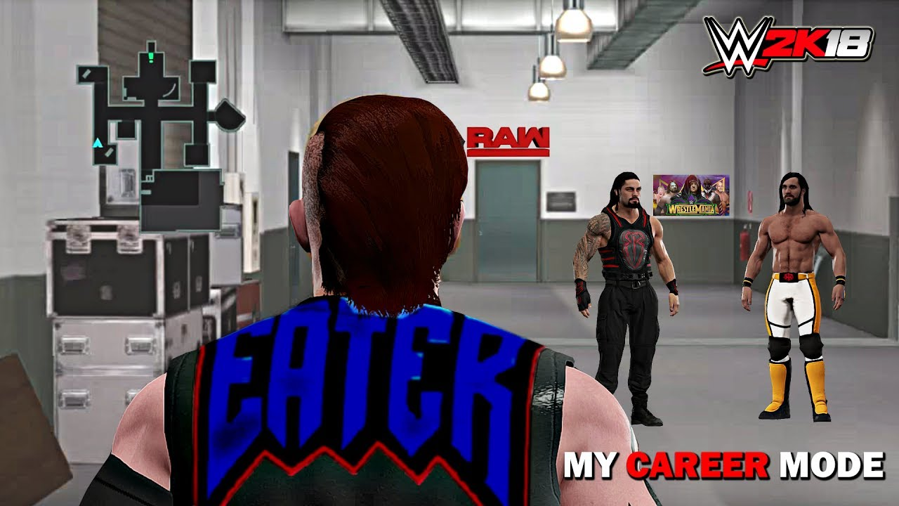 Wwe 2k18 My Career Mode 2k Eater Joins The Shield Raw