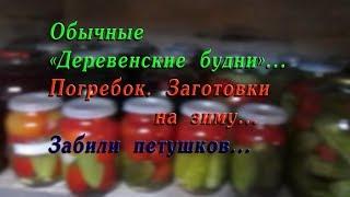 Погребок.//заготовки на зиму//забили петушков..//деревенские будни