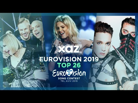 Eurovision 2019: Top 26 - NEW 🇫🇮🇬🇪🇮🇸🇲🇩🇳🇴🇵🇹🇷🇸