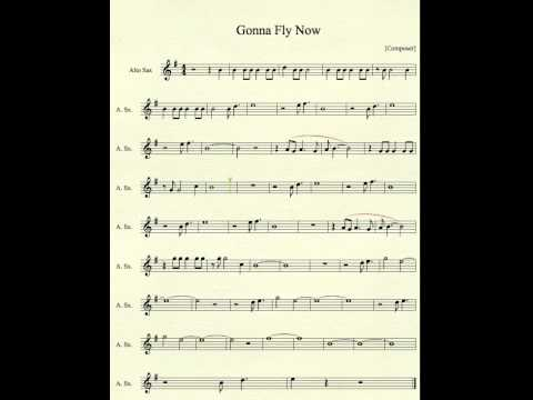 Gonna Fly Now for Alto Sax