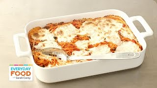 Baked Spaghetti And Mozzarella Recipe - Everyday Food With Sarah Carey
