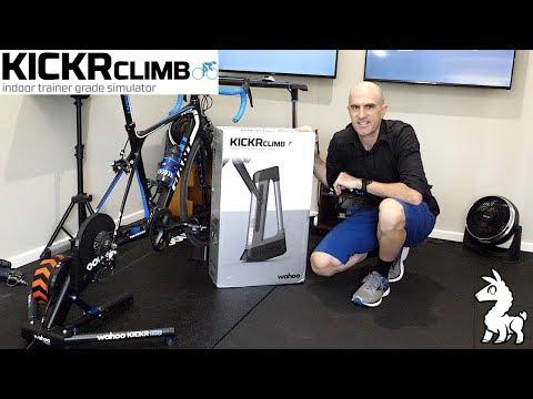 Wahoo KICKR CLIMB Gradient Simulator: Unboxing, Install, Ride Review.