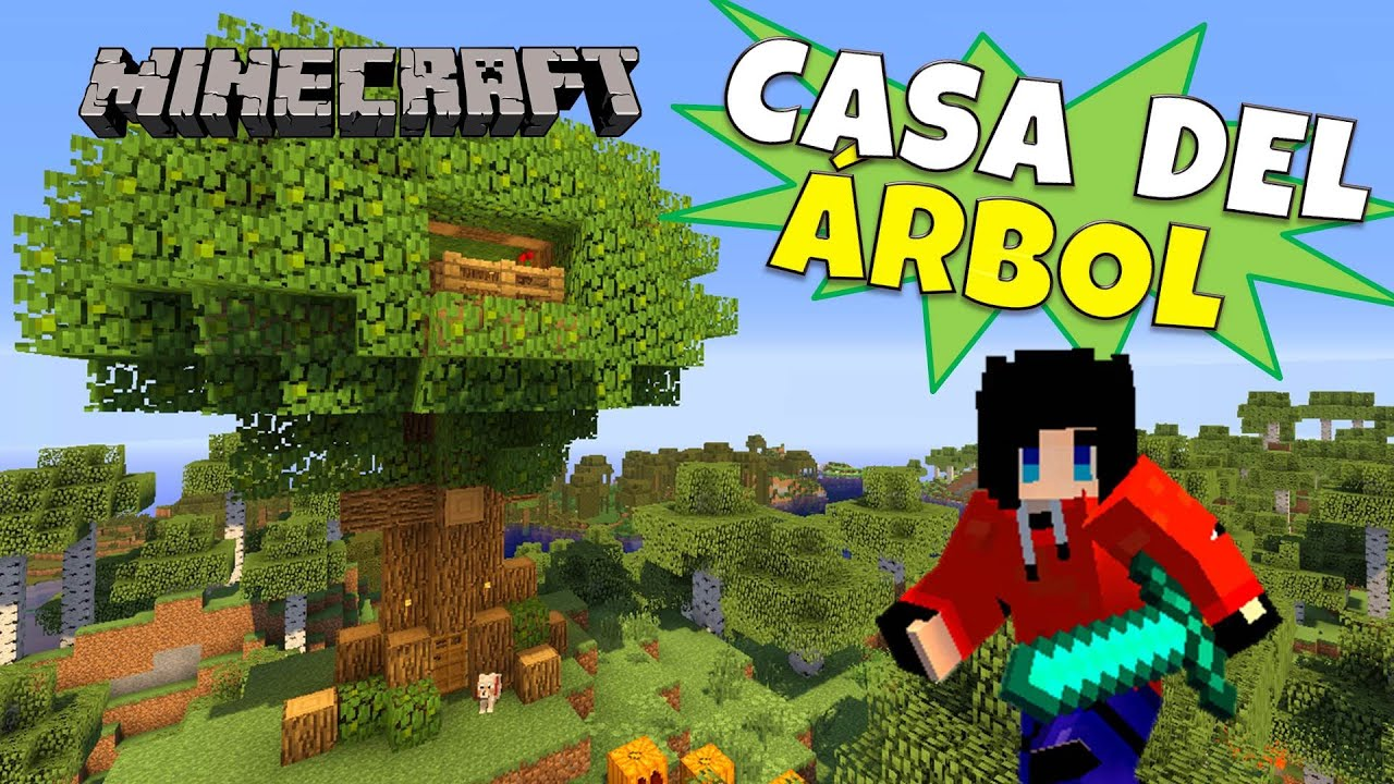 Minecraft casa del rbol tree house super tutorial for Casa moderna rey zerch