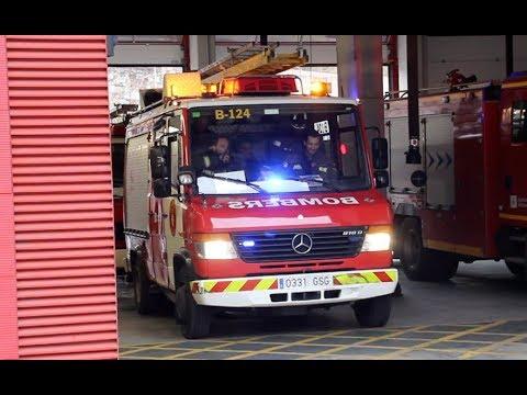 [Station Alarm] Bombers Barcelona B-124 a un servicio urgente // Barcelona Fire Brigade responding