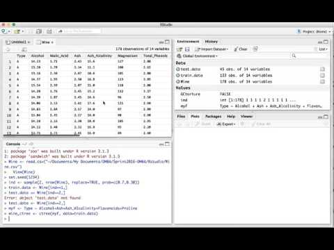 Classification Using RStudio