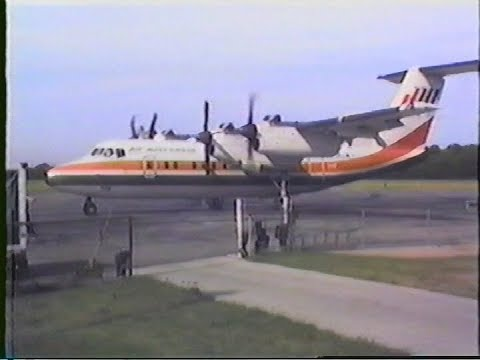Air Wisconsin Dash-7 - N708ZW - Elkhart, Indiana EKM (June 9, 1985)