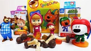 Маша і Ведмідь+МиМиМишки+Три Кота іграшки з мультики Світ Бокси і Хеппі сюрпризи Maşa ile Koca Ayı