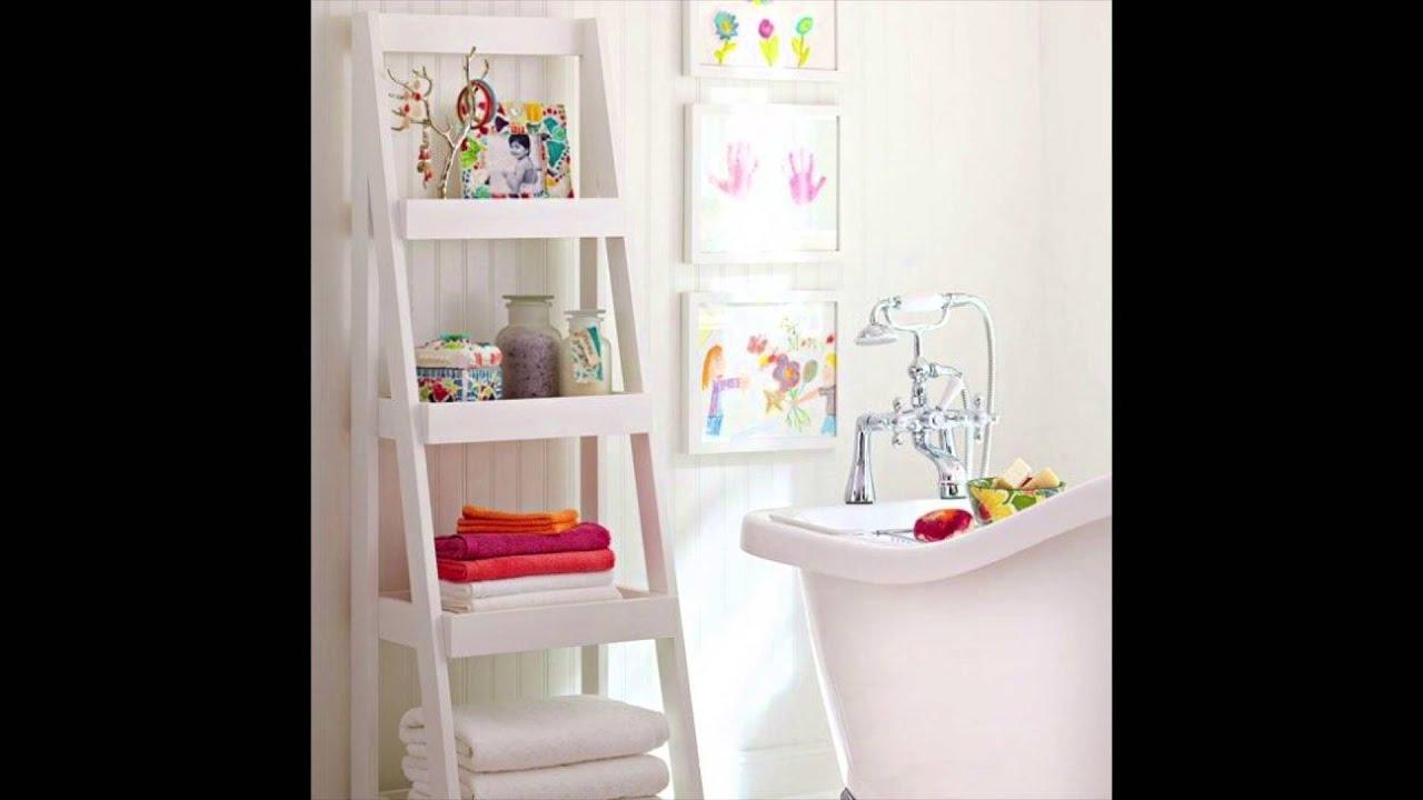 Idéias criativas para decorar o banheiro!  YouTube -> Ideias Criativas Para Armario De Banheiro
