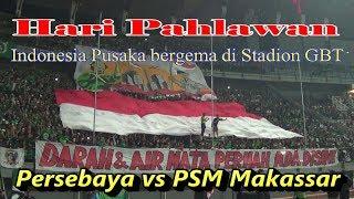 Download Video Kompak!!! Bonek nyanyikan Indonesia Pusaka di Stadion GBT - Persebaya vs PSM Makassar MP3 3GP MP4