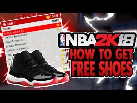 HOW TO GET FREE SHOES IN NBA 2K18! GET FREE CUSTOM SHOES IN NBA 2K18 WITH  THIS METHOD!
