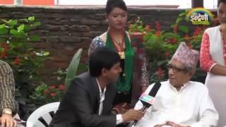 Indreni with Rastra Kabi  Madhav P  Ghimire