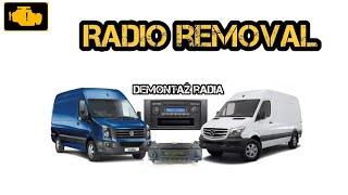 Radio Removal VW Crafter / MB Sprinter 2006-16 /17 Demontaż radia VW Crafter / Dodge Sprinter