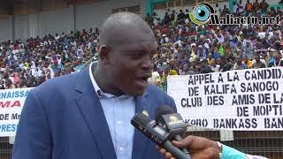 Présidentielle: des milliers de personnes rassemblées pour soutenir la candidature de Kalifa Sanogo