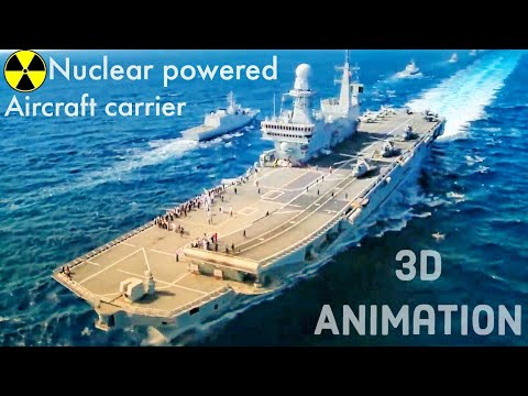 HOW A NUCLEAR POWERED AIRCRAFT CARRIER WORKS?.||AIRCRAFT CARRIER 3D ANIMATION ||LEARN FROM THE BASE