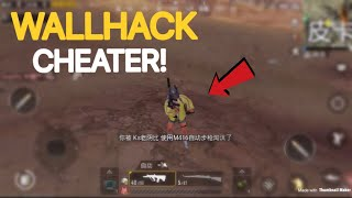 I Met A Cheater AGAIN... | PUBG Mobile | 100% Wallhacks Detected!