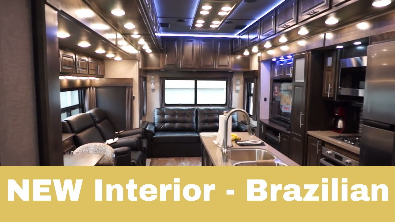 New Interior Luxe Gold Full Time Fifth Wheel Brazilian